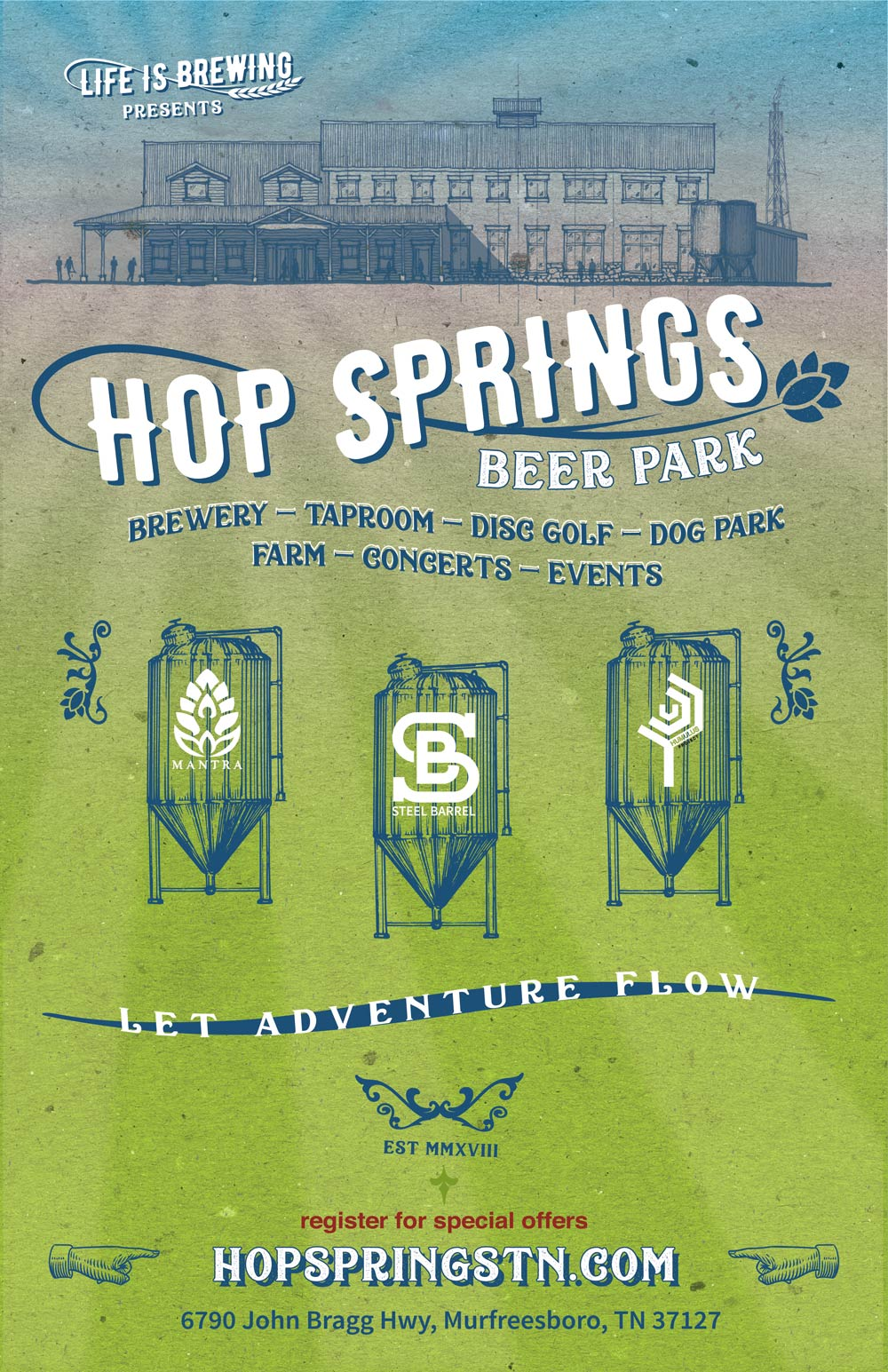 Hop Springs Beer Park - Let Adventure Flow