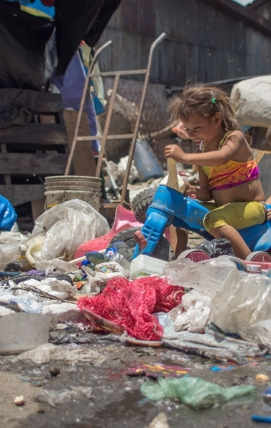 Children playing at the Terminal Dump in Guatemala City