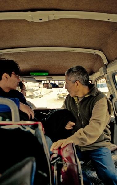 Parking the Van in Comas, Peru