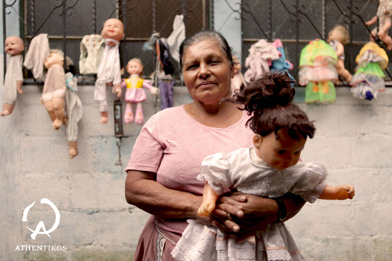 Maria, The Doll Lady, from the documentary, Reparando.