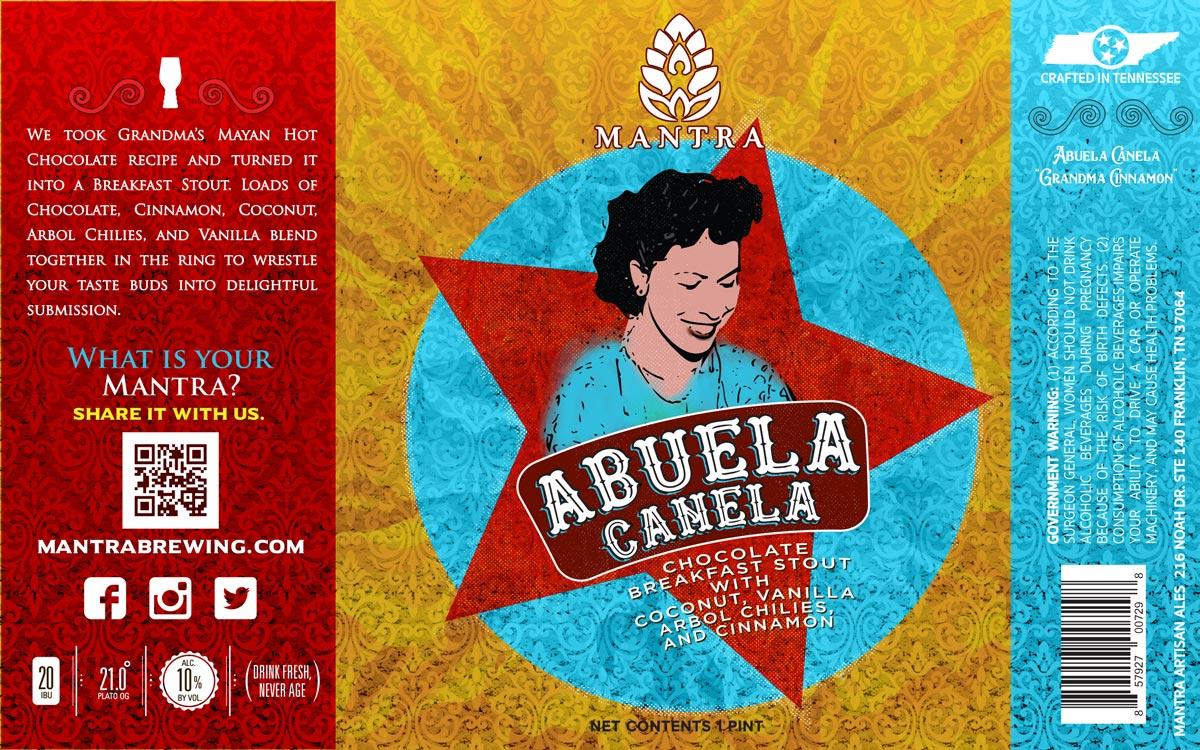 Abuela Canela 16oz label